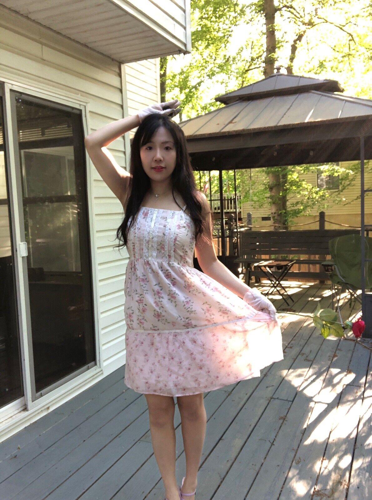 ✨VTG Gunne Sax Pink Style Calico Dress❤️ - image 4