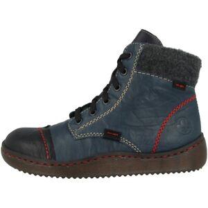 Details zu Rieker Massa Massa Filz Wildebuk Boots Schuhe Stiefeletten gefüttert Z8412 00