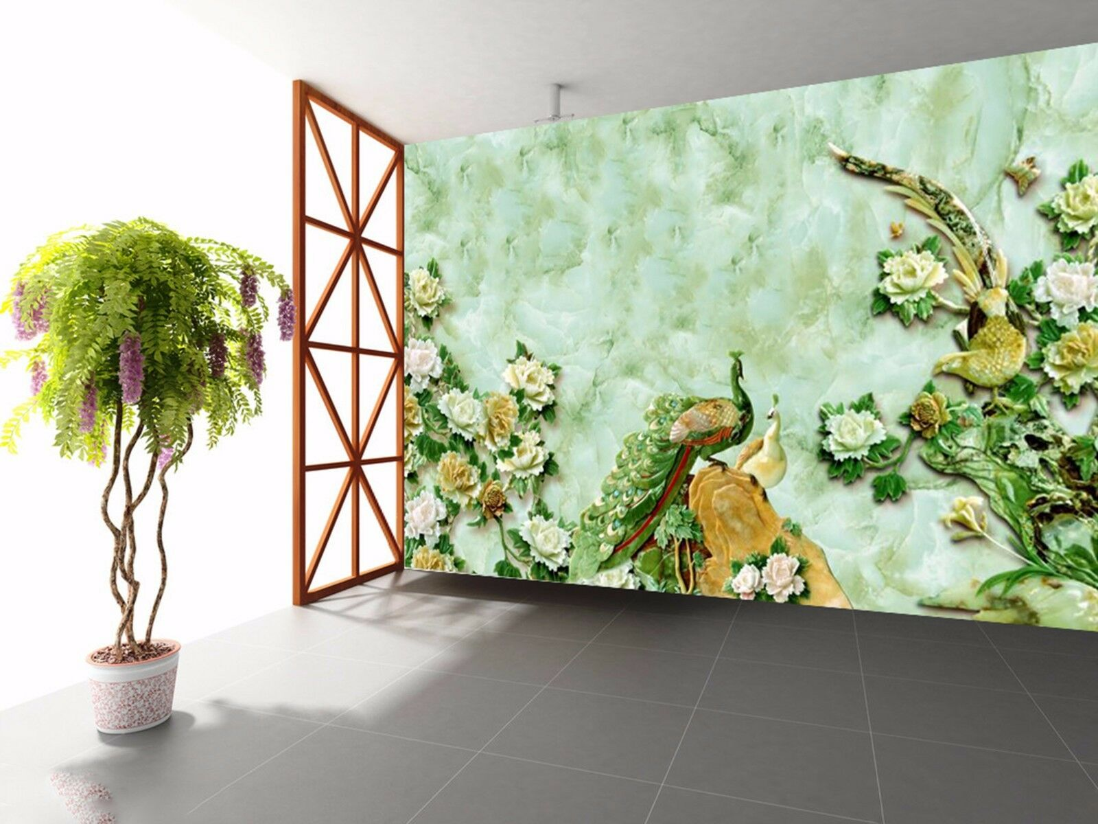3D Grün mosaic 352 Wall Paper Wall Print Decal Wall Indoor Murals Wall US