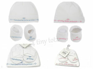 Baby-White-Hat-amp-Bambini-Set-Pretty-Princess-BEL-Principe-0-3m-Set-Regalo