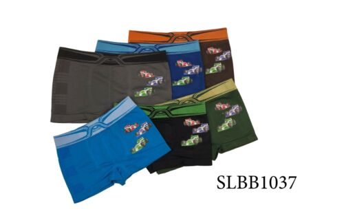Lot of 6 Boys Seamless Boxer Short Kids Spandex Underwear Boy Briefs Size S M L