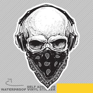 Skull-Bandanna-Kerchief-Scary-Fear-Vinyl-Sticker-Decal-Window-Car-Van-Bike-2100