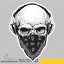 Skull-Bandanna-Kerchief-Scary-Fear-Vinyl-Sticker-Decal-Window-Car-Van-Bike-2100 miniature 1