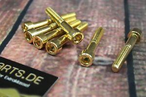 Zylinderschraube mit Innensechskant M6x30 GOLD vergoldet M6 Schraube 24-Karat