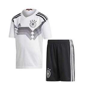 NEW Adidas Boys Kids Germany Home Mini Soccer Kit Jersey Top T ...