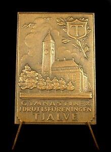 Medaille-Sweden-Suede-Tjalve-idrottsforeningen-Church-Eglise-Sverige-60-mm-medal