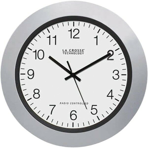La Crosse Technology Atomic Analog Wall Clock Silver 10 2- Pack