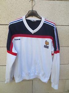 VINTAGE Sweat ADIDAS FRANCE Mondial 86 époque PLATINI Coupe du Monde ... 909b7d172024