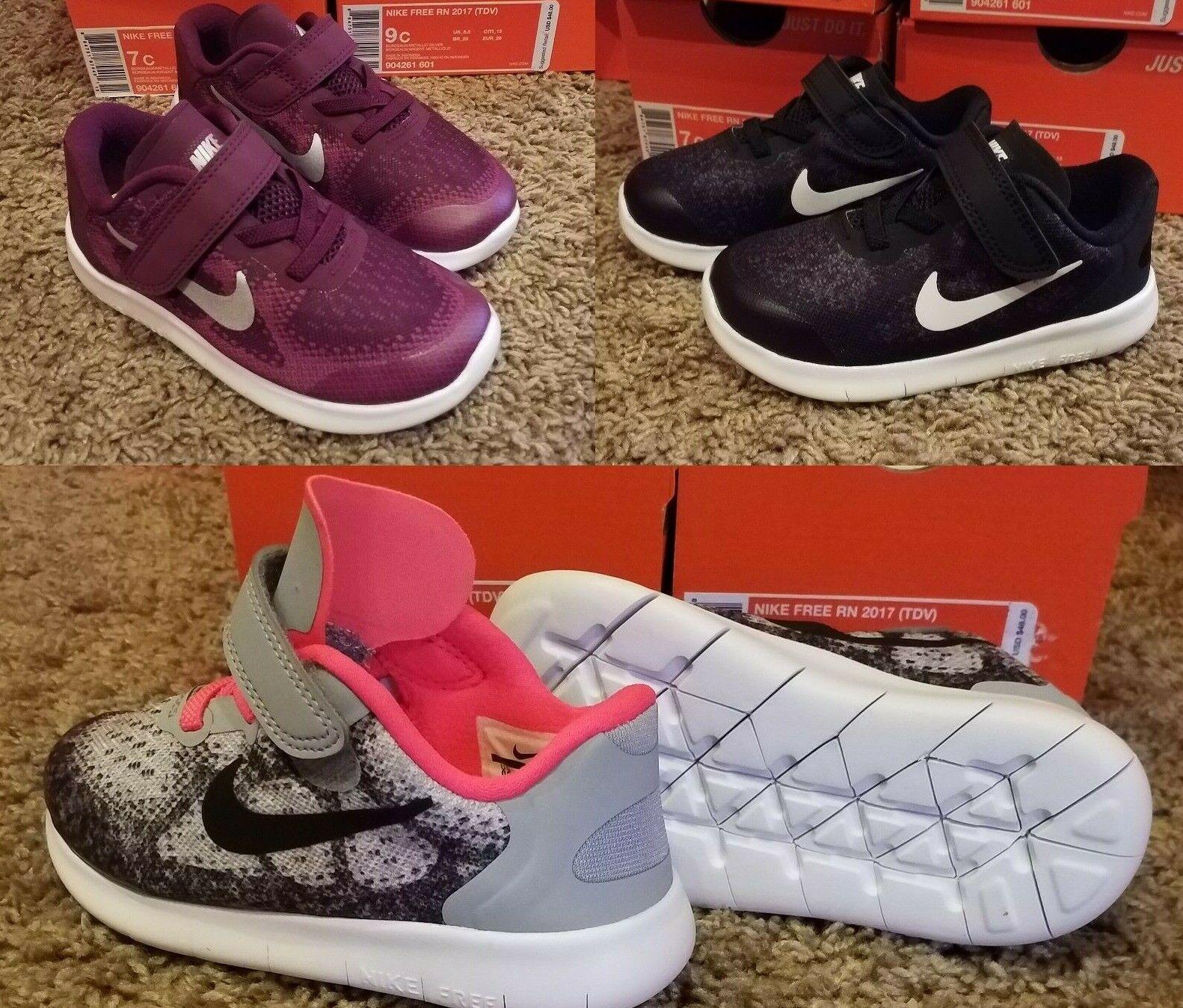 promo code 9906c 30dca Girl's Nike FREE RN 2017 (TDV) Toddler Infant Running Shoe 904261 001 Size  9-10