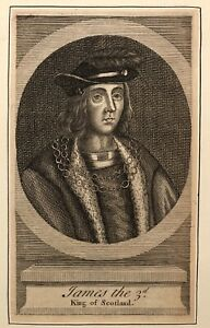 Beautiful 17th Century Engraved Portrait of King James III of ...