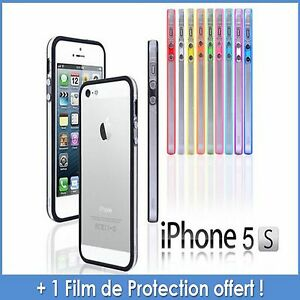 Coque-Bumper-en-silicone-avec-boutons-metallises-pour-iPhone-5-5S
