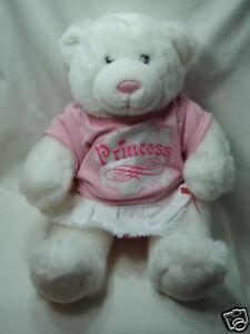 6ac59686f8e Image is loading Build-A-Bear-White-Bear-Pink-Nose-Princess-