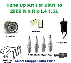 tune up kit for 2001 2002 kia spark wire set spark air filter