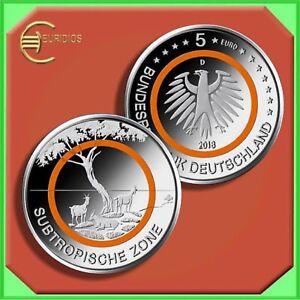 5-Euro-Gedenkmuenze-Deutschland-Germany-2018-Stgl-aus-Rolle-034-Subtropische-Zone-034