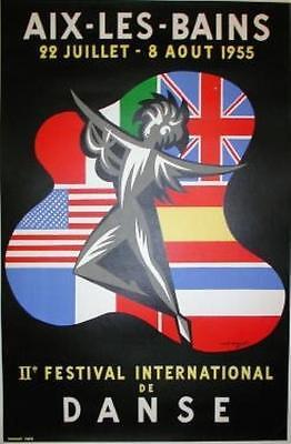 Aix Les Bains Original Vintage Advertising Poster