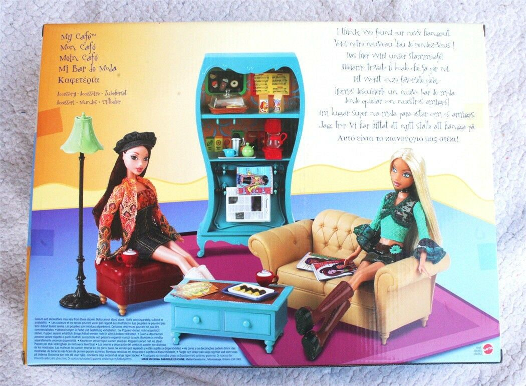 MY CAFE SCENE of MY SCENE CAFE DOLL (BARBIE´S FRIEND). VERY RARE, 2002, BRAND NEW IN BOX c4073c