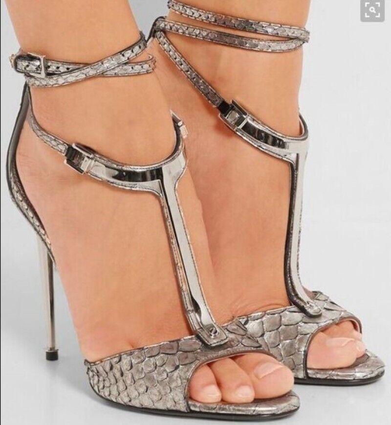Correas De Cuero Para Mujer T-Puntera Abierta Abierta Abierta Hueco sandalias Zapatos Sandalias Nuevas correas cruzadas 8f4a47