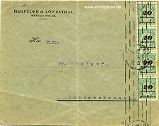 Firmenbrief MeF Infla Harpuder & Löwenthal Berlin an Rüdiger Sondershausen 1923