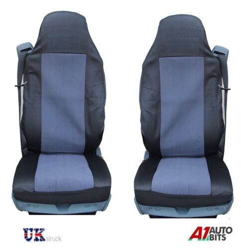 NEW GREY-BLACK QUALITY SEAT COVERS TAILORED FOR VOLVO 16 FH16 FH12 FL FE FM