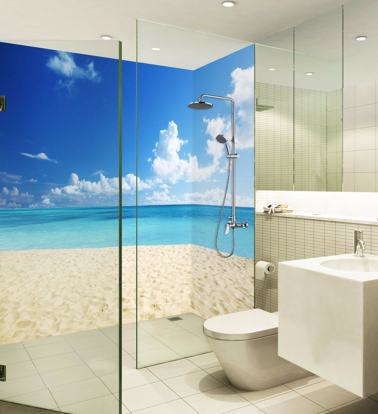 3D Beach Ocean Sky 7 WallPaper Bathroom Print Decal Wall Deco AJ WALLPAPER UK