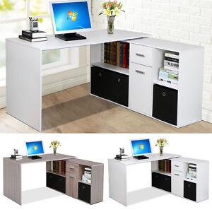 Image Is Loading Corner Adjule Computer Desk Table Laptop Pc Work