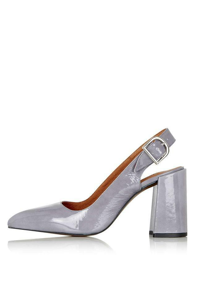 TOPSHOP Gramercy Slingback Slingback Slingback shoes Grey Patent UK 5 EU 38 LN085 AG 04 3b3888