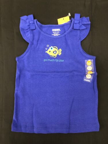 NWT Gymboree Girls So Much To Sea Blue Fish Top Size 18-24 M