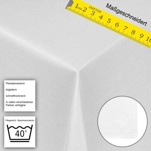 Tischdecke Damast Maßgeschneidert Sonderanfertigung Übergröße Uni Stoff Schwarz
