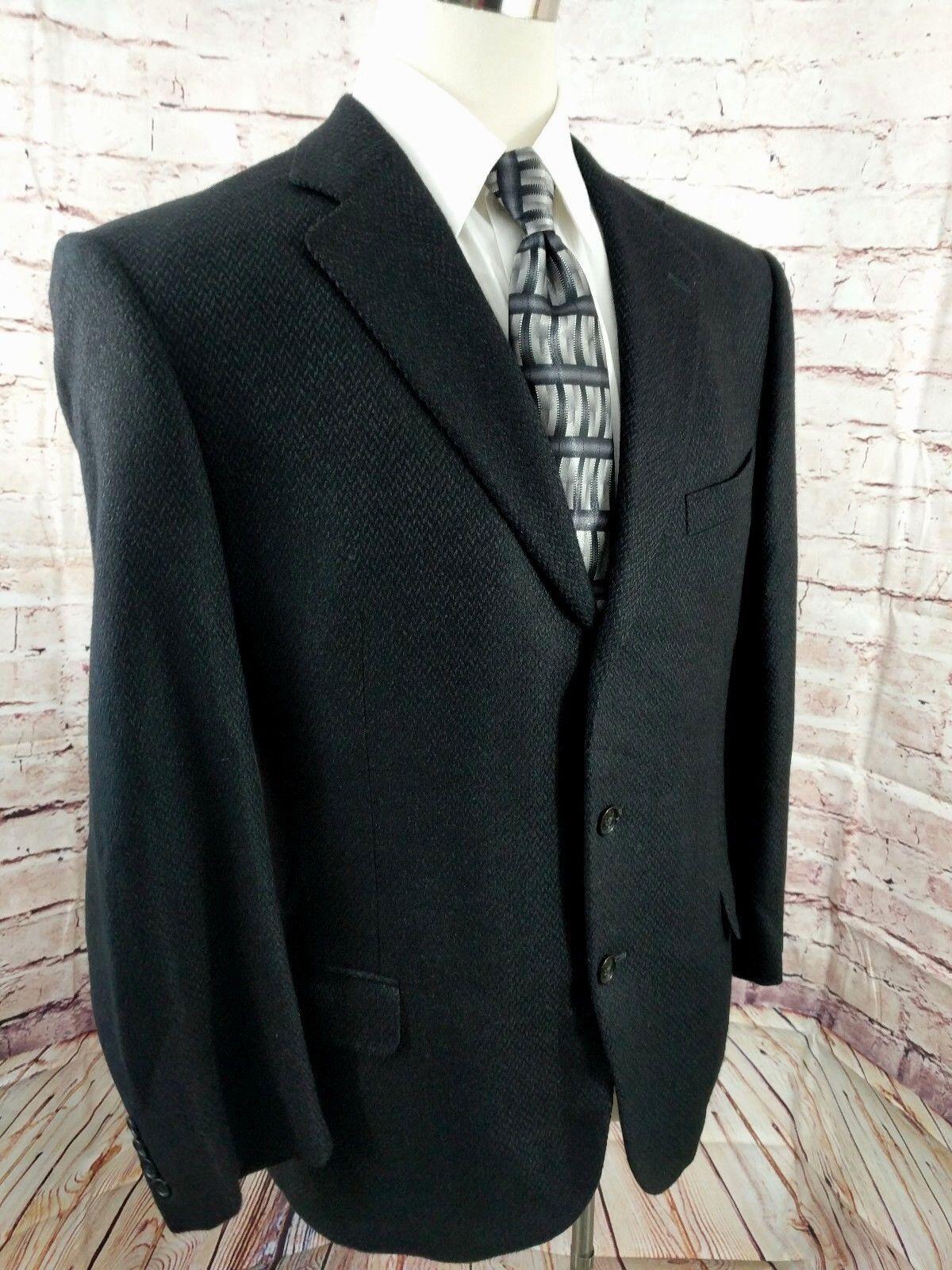 Ermenegildo Zegna Men Silk & Cashmere Sport Coat 3 Button 44 L grau Tweed