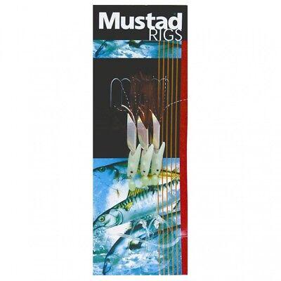 Mustad Hokkai hockeye trace 3 Crochet Rig rouge 3//0 à 60 lb environ 27.22 kg Mono Pêche Maritime