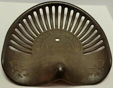 Antique 19th C Walter A Wood Cast Iron Tractor Implement Seat Model 208