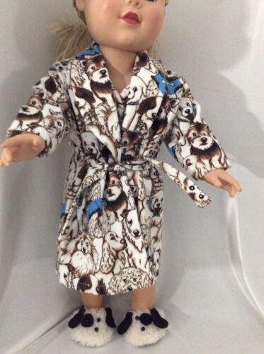 """Handmade Doll Clothes Fits American Girl 18"""" Doggy Print Pajamas Woof !woof !!!!"""