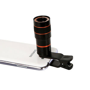 8 x Zoom Optical Telescope Lens for Mobile Phone WITH Universal Clip