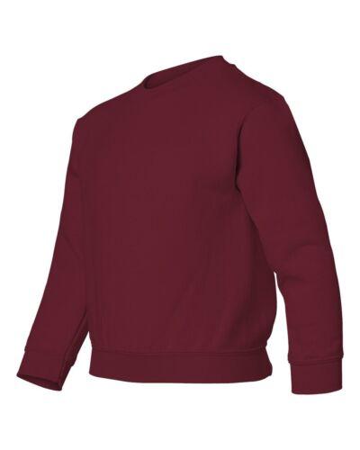 Gildan 18000B Youth Unisex Heavy Blend Crew Neck Sweatshirt Sweater S-XL