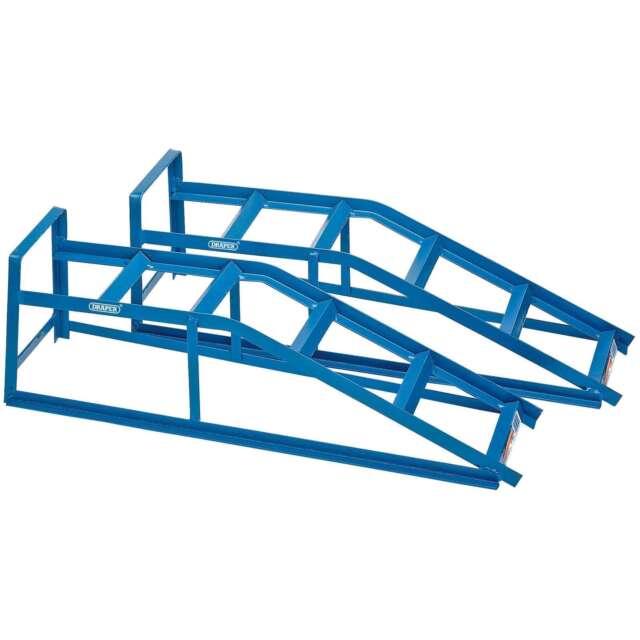 Draper 2x 2 Tonne Car Ramps Garage Professional Standard Tool 23216
