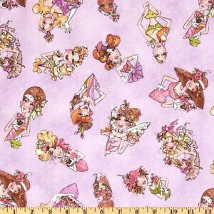 Loralie-039-s-Hey-Cupcake-Tossed-Divas-21970-L-Lavender-by-Quilting-Treasures-BTY