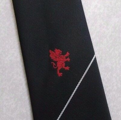 Ragionevole Vintage Cravatta Da Uomo Cravatta Crested Club Associazione Società Red Dragon-mostra Il Titolo Originale