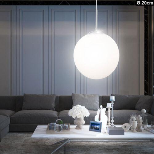 Hänge Leuchten Kugel Decken Pendel Lampen Ess Zimmer Glas Beleuchtung satiniert