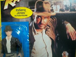 K1900514 Indiana Jones Moc menthe sur carte scellée Raiders 1982 Vintage Kenner