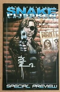 Snake Plissken Chronicles Special Preview Signed 2X Escape From New York HTF NM