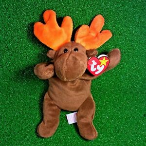 7b1888b58fe Ty Beanie Baby Chocolate The Moose 1993 Original 9 PVC Plush Toy ...