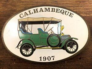 VTG Estate Calhambeque 1907 Car Auto Emblem Ornament! Cool! 107