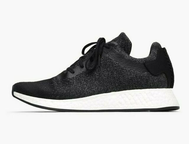 buy popular 496b5 f6802 Adidas WH Wings Horns NMD R2 PK Primeknit Black White Boost CP9550 Speckle  Shoes