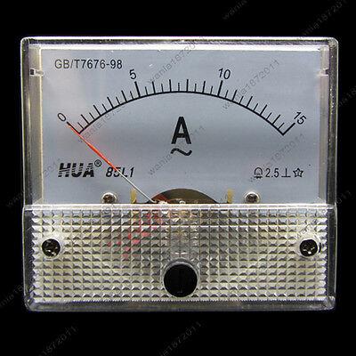 AC 15A Analog Ammeter Panel Pointer AMP Current Meter Gauge 85L1 0-15A AC