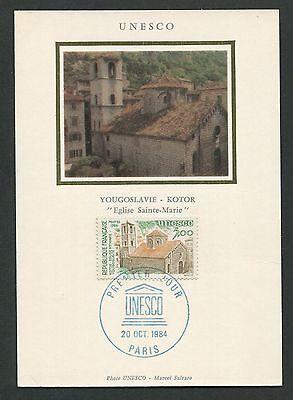 Briefmarken France Mk 1984 Unesco Kotor Marien-kirche Carte Maximum Card Mc Cm D7825 SpäTester Style-Online-Verkauf Von 2019 50%