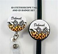 Id Stethoscope Tag Set,designer Rn, Nurse,doctor,midwife, Tech, Medical, Lanyard
