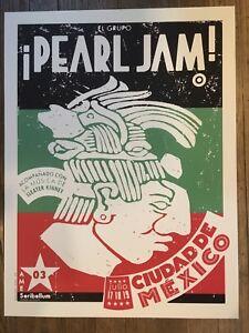 PEARL-JAM-POSTER-2003-TOUR-AMES-BROS-MEXICO-CITY-EDDIE-VEDDER