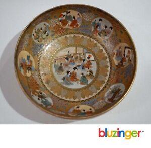 Antique-Japanese-Meiji-Period-Satsuma-Bowl-Signed