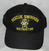 Rescue Swimmer Instructor Baseball Cap. Navy Blue. Made In Usa