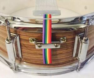 Aimable Snare Flair Tambour Sangle Percussions Rainbow Pride Usa Made Snareflair Bretelles-afficher Le Titre D'origine Correspondant En Couleur